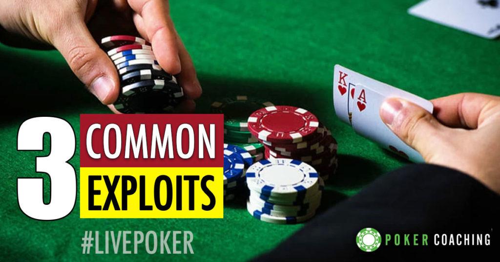 Exploits in Live Tournament Poker