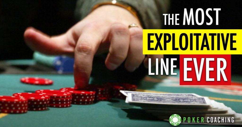 Most Exploitative Line Ever Poker Coaching
